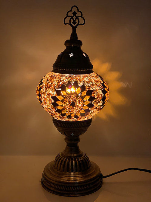 Brown Colour Turkish Moroccan Table Lamp DES03