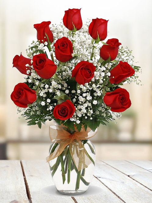 1 Dozen of Red Roses