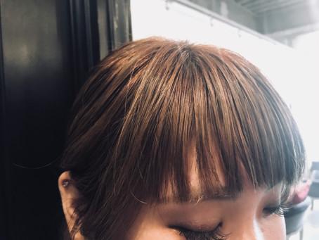 前髪スタイリング