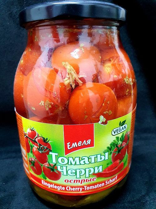 Eingelegte Cherry-Tomaten Scharf