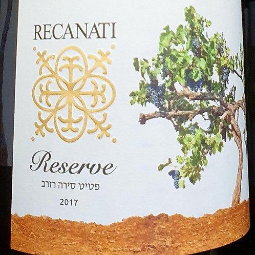 Recanati Reserve Petit SIrah 2017