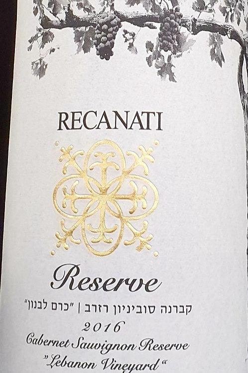 Recanati Reserve Cabernet Sauvignon 2016