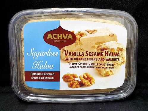 Zuckerfrei Vanille Sesam Halva mit Walnüsse