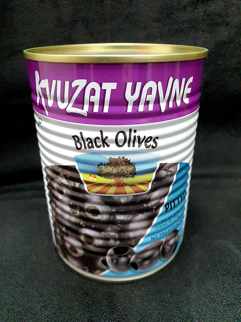 Schwarze entkernte Oliven