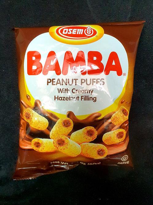 Bamba Erdnuss Puffs mit Haselnusscreme