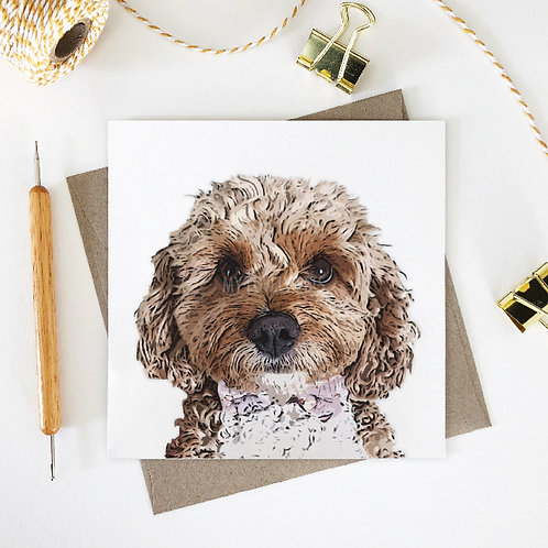 Evie / Cavoodle Greeting Card