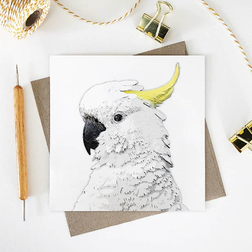 Sulphur-Crested Cockatoo / Linda Greeting Card