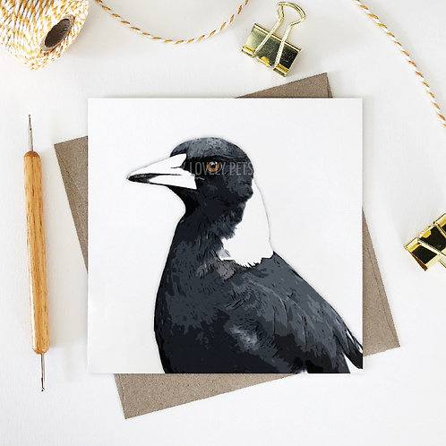 Wendy / Magpie Greeting Card