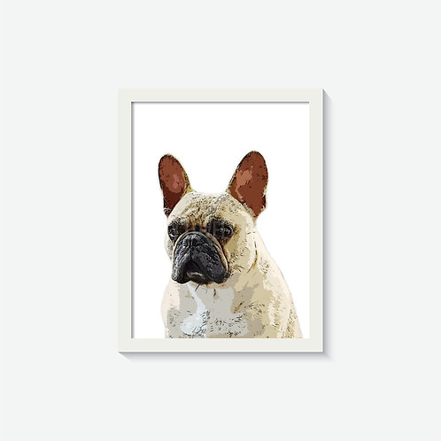 A4 Custom Pet Artwork With Frame