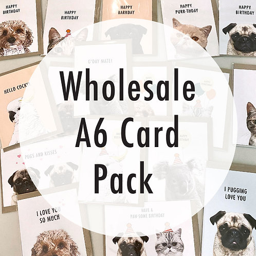 Wholesale A6 Card Pack