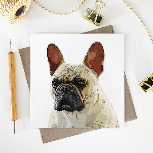 Archie / French Bulldog Greeting Card