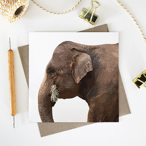 Lucy / Elephant Greeting Card