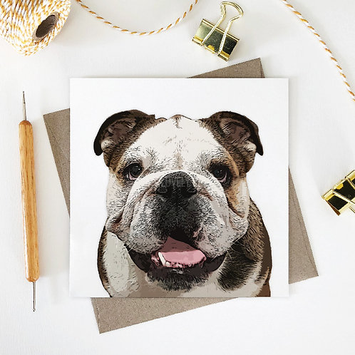 Bobby / English Bulldog Greeting Card