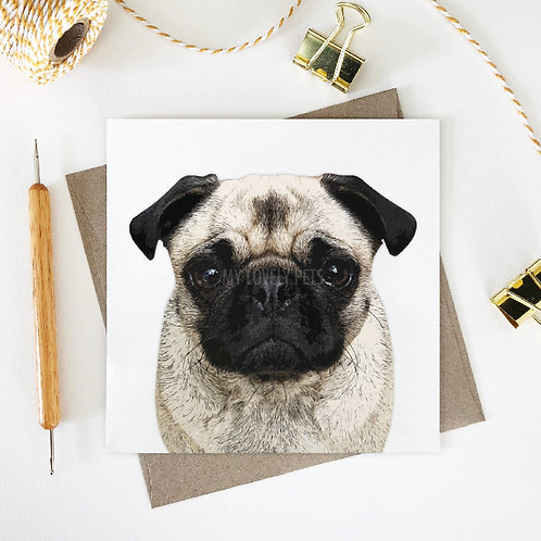 Aria / Pug Greeting Card