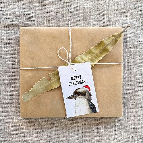 Wholesale 6 of - Merry Christmas Kookaburra Gift Tag