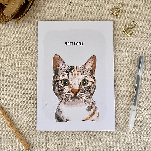 Domestic Shorthair Cat Notebook A5 Blank 100% Recycled Paper Notebook