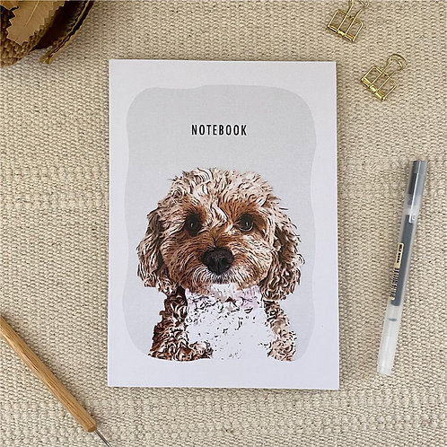 Cavoodle A5 Blank 100% Recycled Paper Notebook