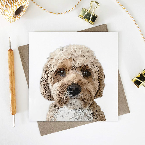 Evie / Cavoodle 2 Greeting Card