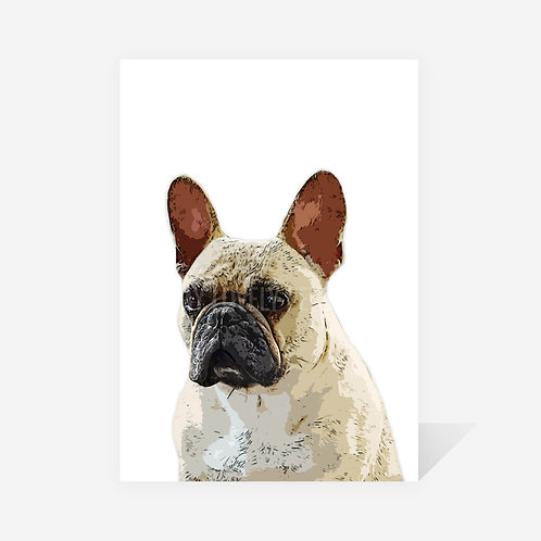 French Bulldog / Archie Print