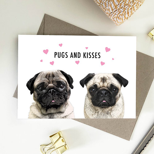 Wholesale 6 of - Pugs And Kisses Cards