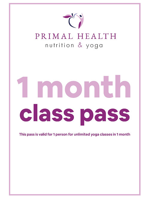 Monthly Class Pass