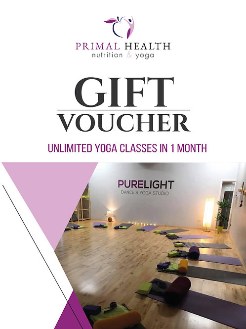 Gift Voucher - 1 Month - Unlimited Yoga