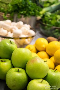 fuits et légumes pour un concours gastronomique