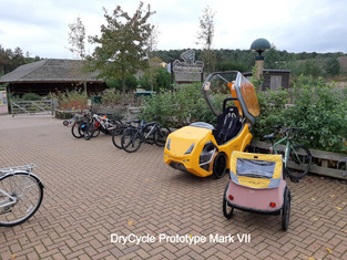 DryCycle next to Bicycle Trailer
