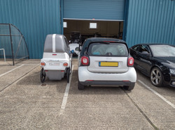 back of Smart Car with DryCycle