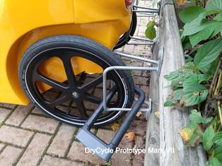 Locking a DryCycle to Cycle Racks