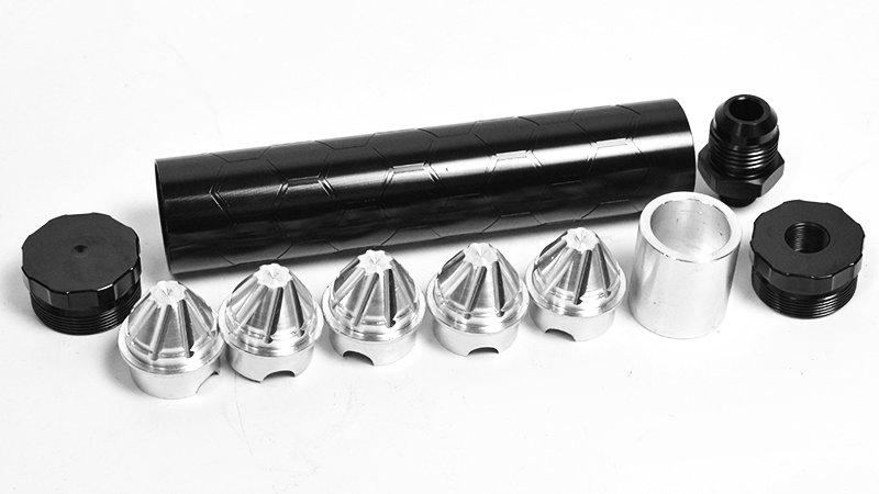 "Aluminum Standard - 6.8"" x 1.30""w/ Honey Comb Outer Design"