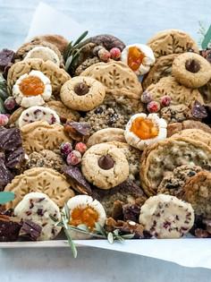 Jolly Holiday Sweets Board