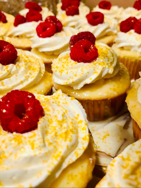 fan Favorite Lemon Raspberry Cheesecake Cupcake
