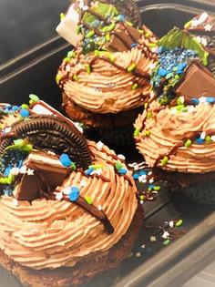 mint chocolate custom Birthday cupcake