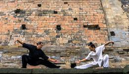 Yin/Yang - Jason with Master Bing at Yu Xu Gong, Wudangshan, Hubei, China