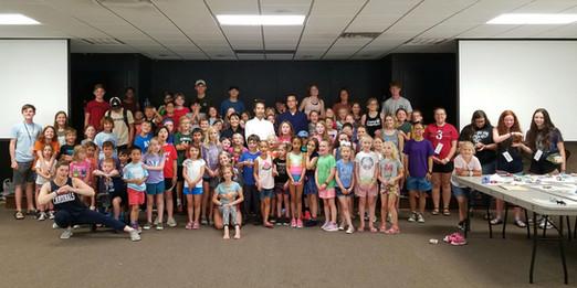 Wudang 5 Animal Qigong kids class with Master Bing at Mount Seqouyah Center in Fayetteville, Arkansas 2019