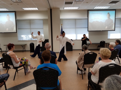 Wudang 5 Animal Qigong class with Master Bing at Rogers Adult Wellness Center in Rogers, Arkansas 2019