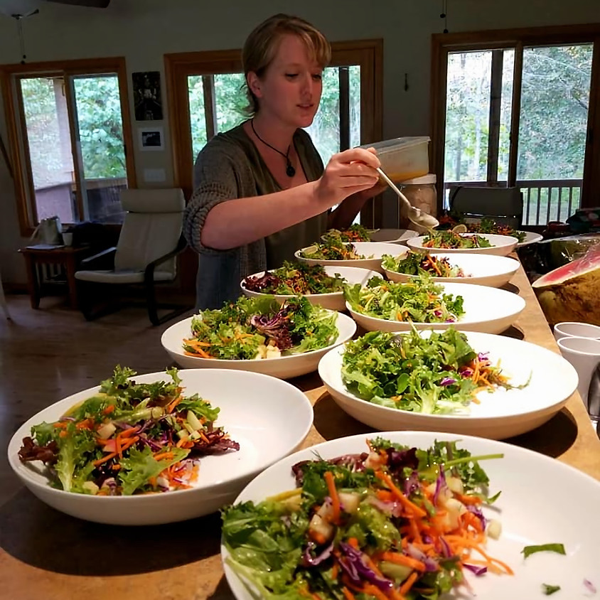 Friday Only - Cooking Demo & Private Four CourseDinner with Food Energetics Discussion with Chef Lindsey