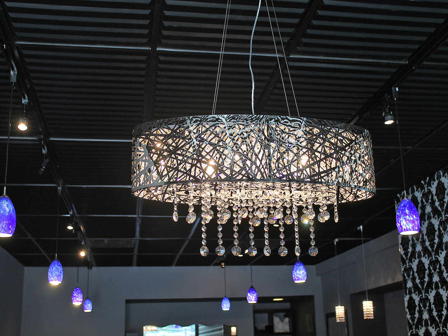 Hair Tech Alameda chandelier