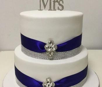 High Society Wedding Cake MR & MRS