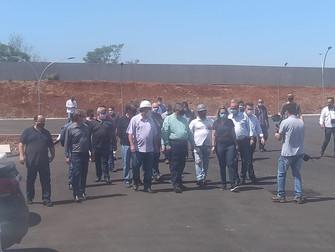 Secretário de Estado da Saúde, Beto Preto, faz visita técnica as obras do Hospital Regional em Corné
