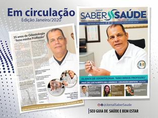 Dr. Luiz Alberto Dib Canônico na capa do Jornal Saber Saúde