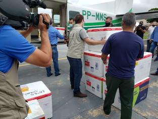 18ª Regional de Saúde recebe e já distribuirá primeiro lote da vacina CORONAVAC para região