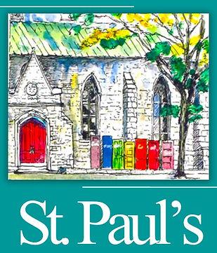 St Pauls teal rainbow Elkins sketch door