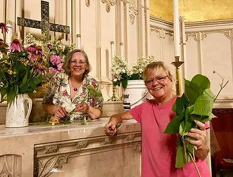 Liz Handler and Denise Dolge doing the f