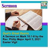 SERMON  April 3  Gods great desire Headi