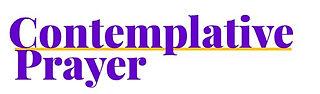 Contemplative Prayer Group Heading Logo.