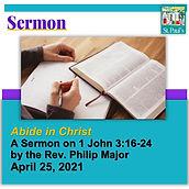 SERMON  April 25  Abide in Christ Headin