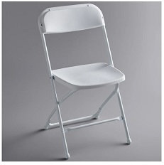 Outdoor Classroom-white textured contoured folding chair