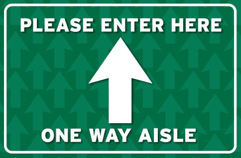 Enter Here Floor Graphic
